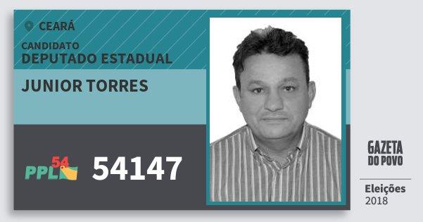 Santinho Junior Torres 54147 (PPL) Deputado Estadual | Ceará | Eleições 2018