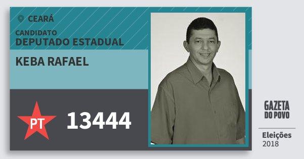 Santinho Keba Rafael 13444 (PT) Deputado Estadual | Ceará | Eleições 2018