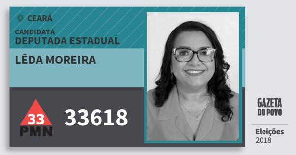 Santinho Lêda Moreira 33618 (PMN) Deputada Estadual | Ceará | Eleições 2018