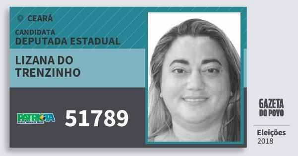 Santinho Lizana do Trenzinho 51789 (PATRI) Deputada Estadual | Ceará | Eleições 2018
