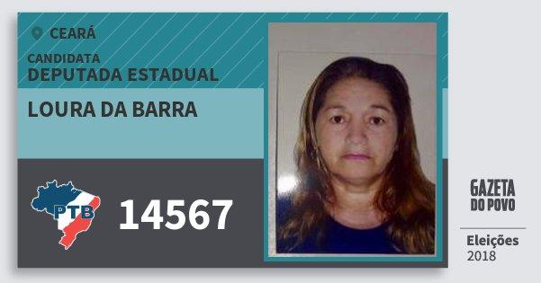 Santinho Loura da Barra 14567 (PTB) Deputada Estadual | Ceará | Eleições 2018