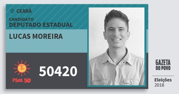 Santinho Lucas Moreira 50420 (PSOL) Deputado Estadual | Ceará | Eleições 2018