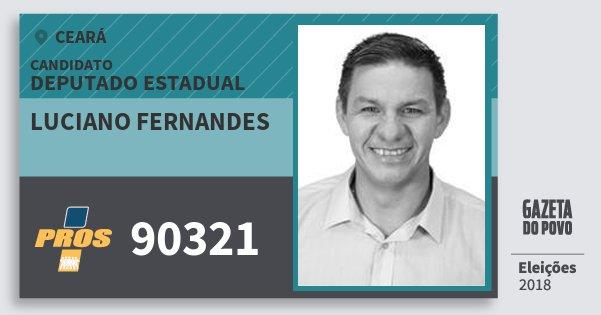 Santinho Luciano Fernandes 90321 (PROS) Deputado Estadual | Ceará | Eleições 2018