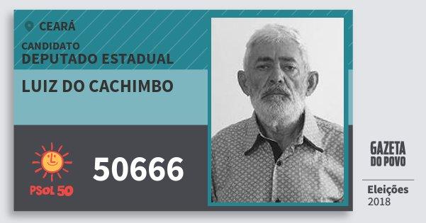 Santinho Luiz do Cachimbo 50666 (PSOL) Deputado Estadual | Ceará | Eleições 2018
