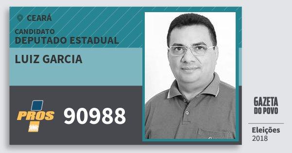 Santinho Luiz Garcia 90988 (PROS) Deputado Estadual | Ceará | Eleições 2018