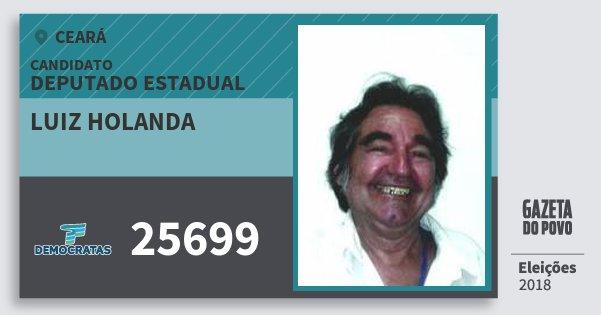 Santinho Luiz Holanda 25699 (DEM) Deputado Estadual | Ceará | Eleições 2018
