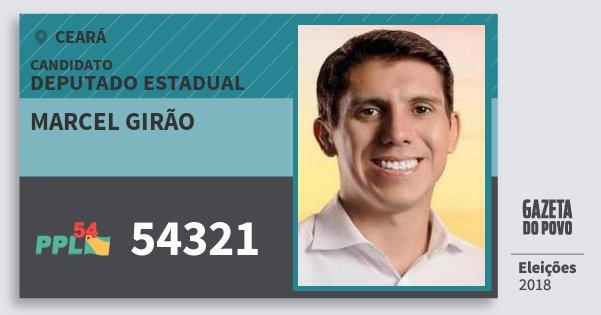 Santinho Marcel Girão 54321 (PPL) Deputado Estadual | Ceará | Eleições 2018