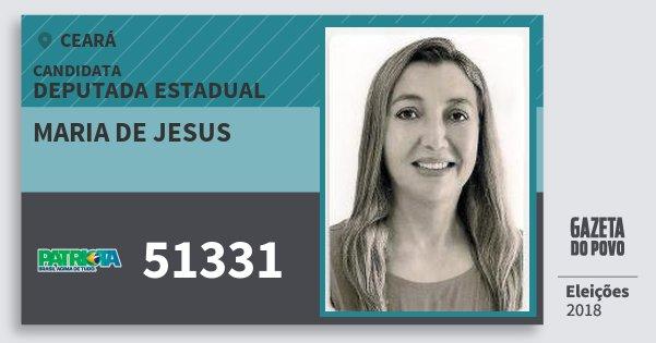 Santinho Maria de Jesus 51331 (PATRI) Deputada Estadual | Ceará | Eleições 2018