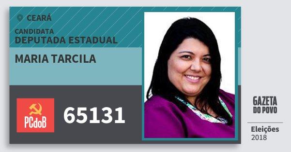 Santinho Maria Tarcila 65131 (PC do B) Deputada Estadual | Ceará | Eleições 2018