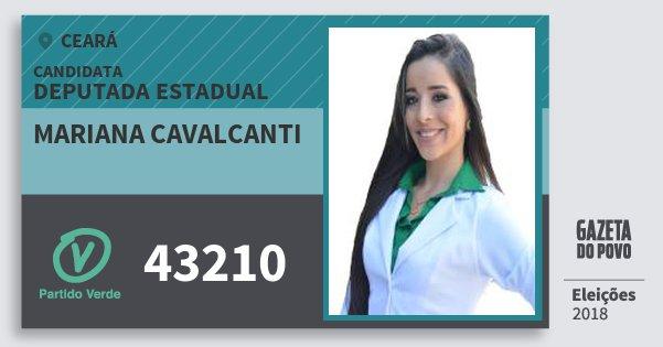 Santinho Mariana Cavalcanti 43210 (PV) Deputada Estadual | Ceará | Eleições 2018