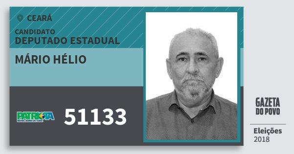 Santinho Mário Hélio 51133 (PATRI) Deputado Estadual | Ceará | Eleições 2018