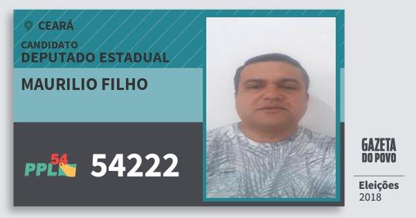 Santinho Maurilio Filho 54222 (PPL) Deputado Estadual | Ceará | Eleições 2018