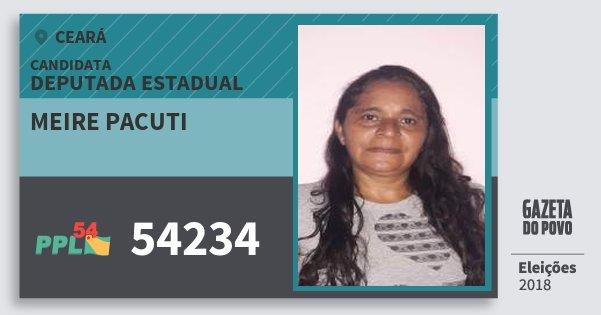 Santinho Meire Pacuti 54234 (PPL) Deputada Estadual | Ceará | Eleições 2018