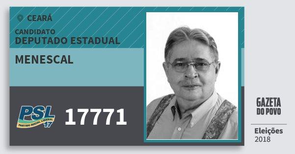 Santinho Menescal 17771 (PSL) Deputado Estadual   Ceará   Eleições 2018