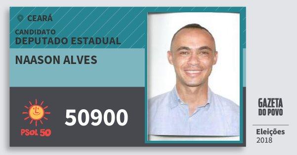 Santinho Naason Alves 50900 (PSOL) Deputado Estadual | Ceará | Eleições 2018