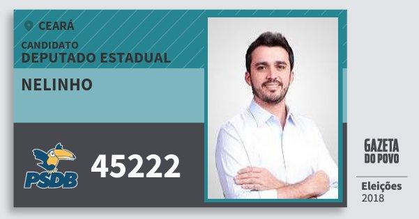 Santinho Nelinho 45222 (PSDB) Deputado Estadual | Ceará | Eleições 2018