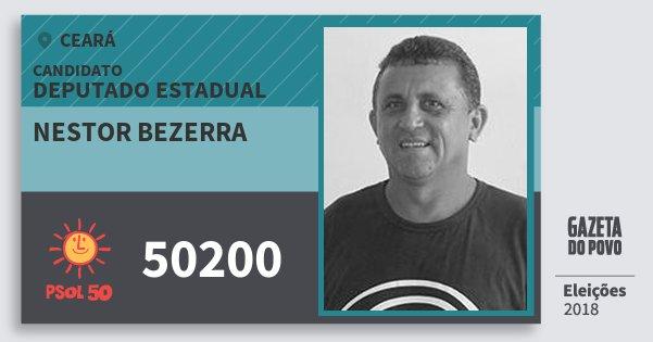 Santinho Nestor Bezerra 50200 (PSOL) Deputado Estadual | Ceará | Eleições 2018