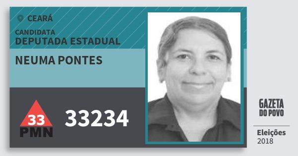 Santinho Neuma Pontes 33234 (PMN) Deputada Estadual | Ceará | Eleições 2018