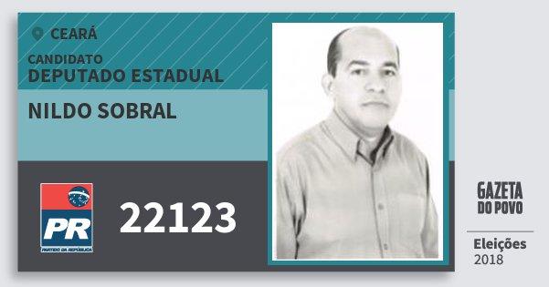 Santinho Nildo Sobral 22123 (PR) Deputado Estadual | Ceará | Eleições 2018