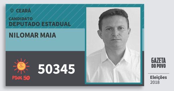 Santinho Nilomar Maia 50345 (PSOL) Deputado Estadual | Ceará | Eleições 2018