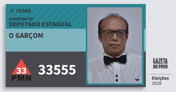 Santinho O Garçom 33555 (PMN) Deputado Estadual | Ceará | Eleições 2018