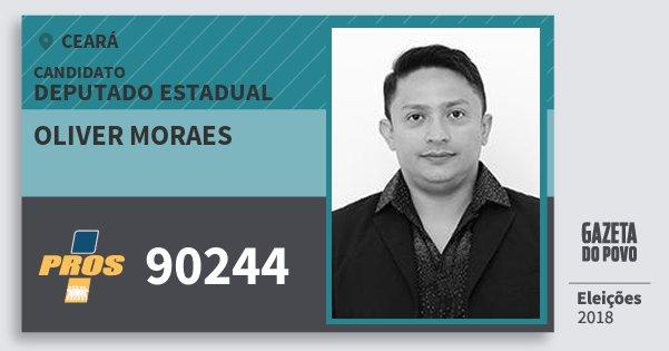 Santinho Oliver Moraes 90244 (PROS) Deputado Estadual | Ceará | Eleições 2018
