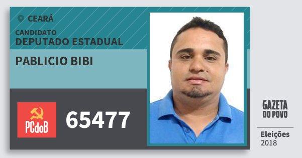 Santinho Pablicio Bibi 65477 (PC do B) Deputado Estadual | Ceará | Eleições 2018