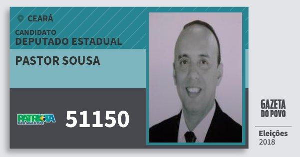 Santinho Pastor Sousa 51150 (PATRI) Deputado Estadual | Ceará | Eleições 2018