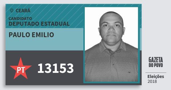 Santinho Paulo Emilio 13153 (PT) Deputado Estadual   Ceará   Eleições 2018