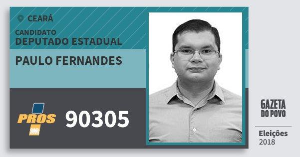 Santinho Paulo Fernandes 90305 (PROS) Deputado Estadual | Ceará | Eleições 2018