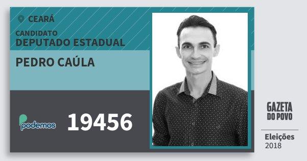 Santinho Pedro Caúla 19456 (PODE) Deputado Estadual | Ceará | Eleições 2018
