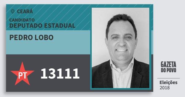Santinho Pedro Lobo 13111 (PT) Deputado Estadual | Ceará | Eleições 2018