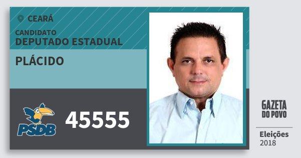 Santinho Plácido 45555 (PSDB) Deputado Estadual | Ceará | Eleições 2018