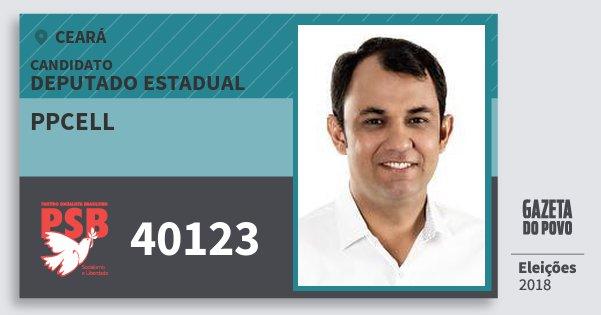Santinho Ppcell 40123 (PSB) Deputado Estadual | Ceará | Eleições 2018