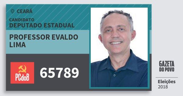 Santinho Professor Evaldo Lima 65789 (PC do B) Deputado Estadual   Ceará   Eleições 2018
