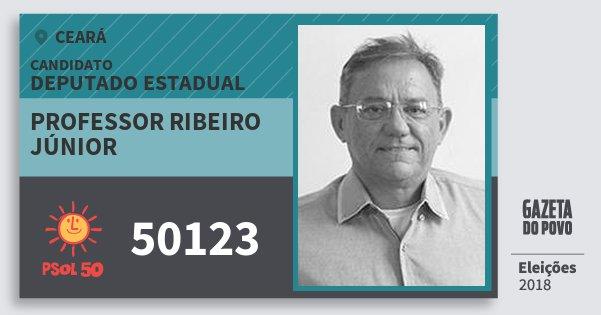 Santinho Professor Ribeiro Júnior 50123 (PSOL) Deputado Estadual | Ceará | Eleições 2018