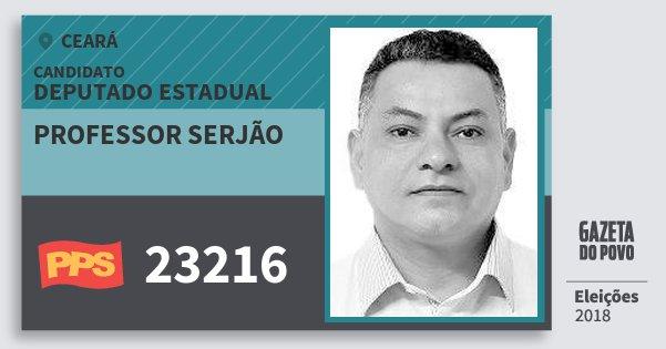 Santinho Professor Serjão 23216 (PPS) Deputado Estadual | Ceará | Eleições 2018