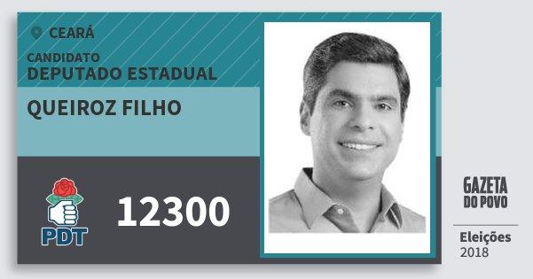 Santinho Queiroz Filho 12300 (PDT) Deputado Estadual | Ceará | Eleições 2018