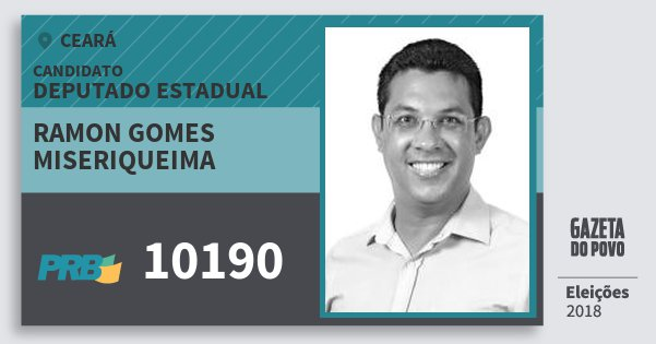 Santinho Ramon Gomes Miseriqueima 10190 (PRB) Deputado Estadual | Ceará | Eleições 2018