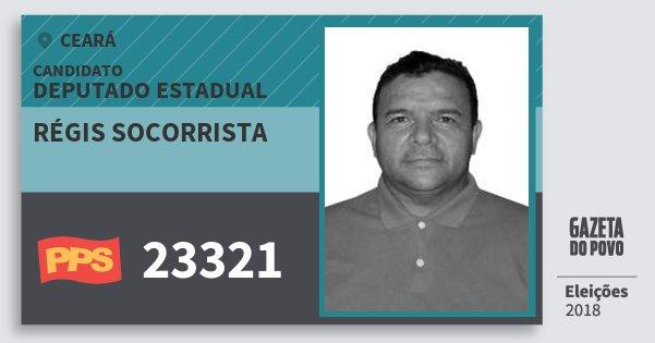 Santinho Régis Socorrista 23321 (PPS) Deputado Estadual | Ceará | Eleições 2018