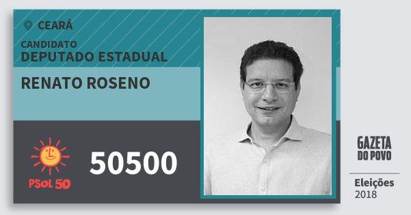 Santinho Renato Roseno 50500 (PSOL) Deputado Estadual | Ceará | Eleições 2018