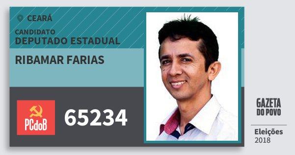 Santinho Ribamar Farias 65234 (PC do B) Deputado Estadual | Ceará | Eleições 2018