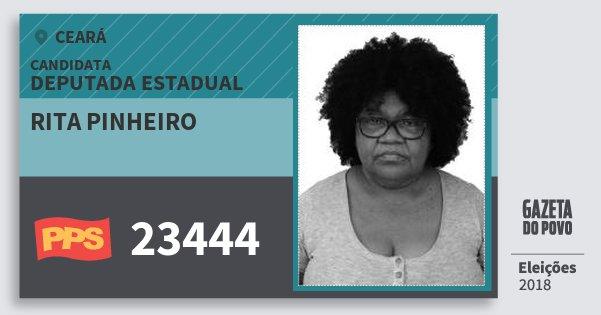 Santinho Rita Pinheiro 23444 (PPS) Deputada Estadual | Ceará | Eleições 2018