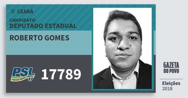 Santinho Roberto Gomes 17789 (PSL) Deputado Estadual | Ceará | Eleições 2018
