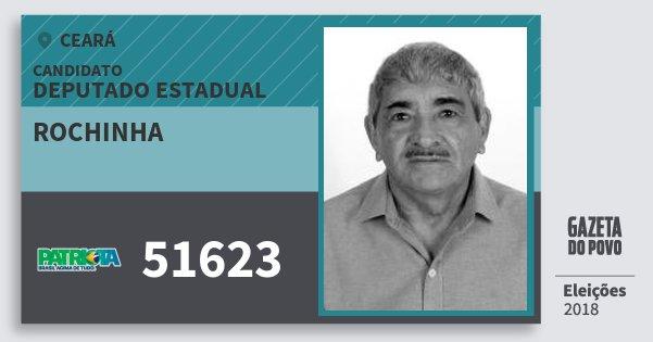 Santinho Rochinha 51623 (PATRI) Deputado Estadual | Ceará | Eleições 2018