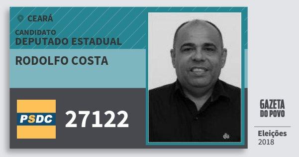 Santinho Rodolfo Costa 27122 (DC) Deputado Estadual | Ceará | Eleições 2018