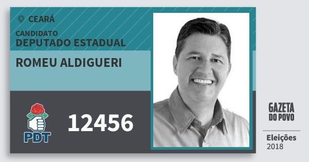 Santinho Romeu Aldigueri 12456 (PDT) Deputado Estadual | Ceará | Eleições 2018
