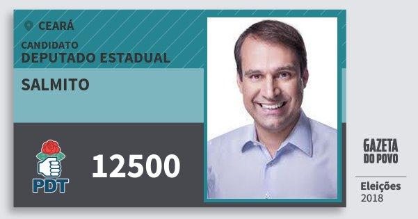 Santinho Salmito 12500 (PDT) Deputado Estadual | Ceará | Eleições 2018