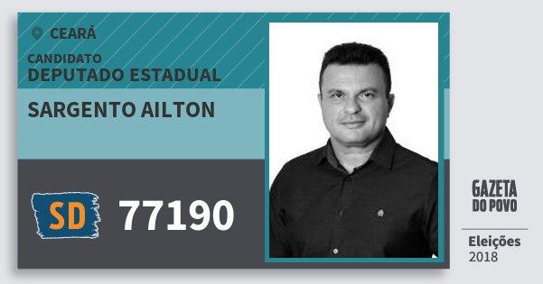 Santinho Sargento Ailton 77190 (SOLIDARIEDADE) Deputado Estadual | Ceará | Eleições 2018