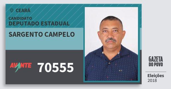 Santinho Sargento Campelo 70555 (AVANTE) Deputado Estadual | Ceará | Eleições 2018